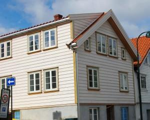 Restaurert hus i Trehusbyen Stavanger.