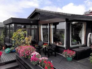 Utvendig terrasse før